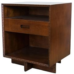 Frank Lloyd Wright Single Drawer Two-Shelf Taliesin Nightstand