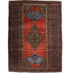 Late 19th Century Antique Persian Bijar Halwai Halvei Rug