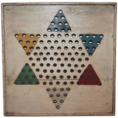 Early 20th Century Original Painted Star Game Board