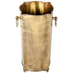 Vintage European Brass Umbrella Stand