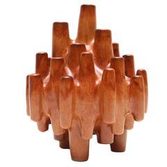 Italian Ceramic Vase 'Space Age'