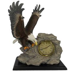 Lenox Figurine Eagle Clock with Box and Stand