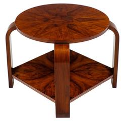 French Art Deco Round Top Marquetry Gueridon