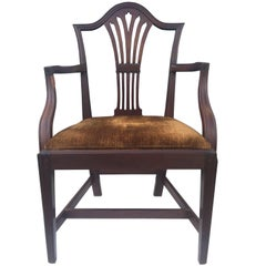 English Mahogany Hepplewhite Armchair, 1780