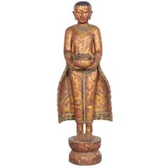 Standing Monk on Lotus Leaf