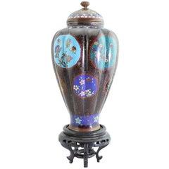 Antique Meiji Japanese Cloisonne Vase, circa 1890