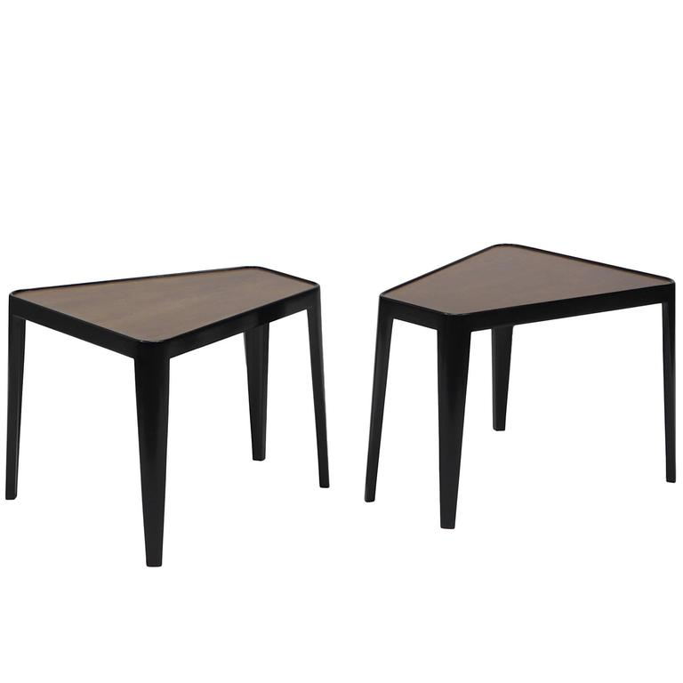 Pair of Wedge Tables by Edward Wormley for Dunbar