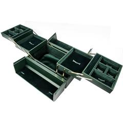 Tanner Krolle London Green Leather Jewelry Case, New