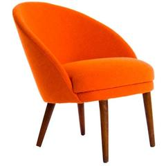 Danish Modern Slipper Chair
