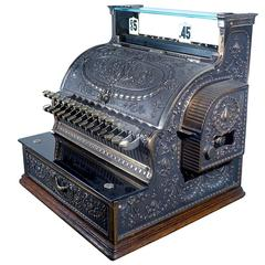 Restored Brass National Cash Register, Model 343