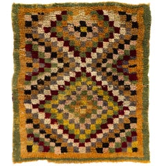 """Checkered One of a Kind Midcentury """"Tulu"""" Rug"""