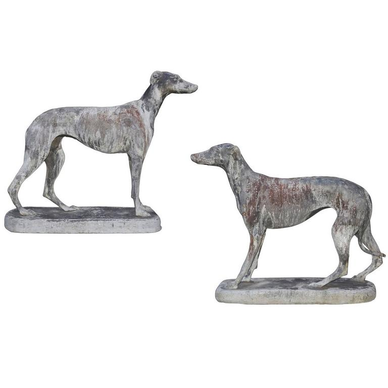 Pair of English Lead Whippets