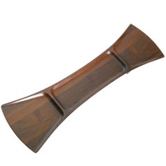 Jens Quistgaard for Dansk Rare Woods Palisander Bow Tie Shaped Tray Rosewood