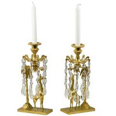 Charles X Giraffe Candlesticks