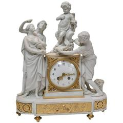 Sèvres Biscuit Porcelain Clock