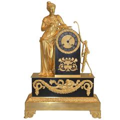 Empire Clock with a Standing Psyche or Venus