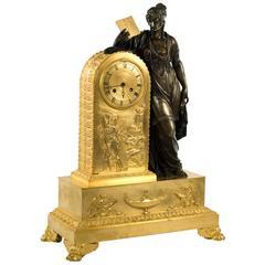 French Empire Clock of Clio