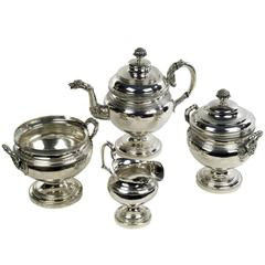 Coin Silver Tea Service by Edward Lownes