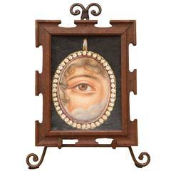 Lover's Eye Brooch Painting