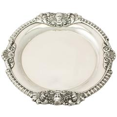 Sterling Silver Waiter by Edward Barnard & Sons Ltd, Regency, Style Antique
