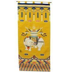 Tibetan Elephant Khaden Style Needlepoint Rug