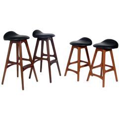 Selection of Danish Modern Bar Stools by Erik Buck