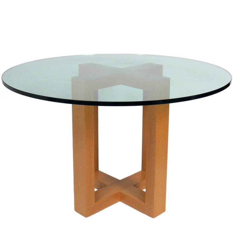 Sculptural quotXquot Form Oak Dining Table Base at 1stdibs : xbasetable1orgl from www.1stdibs.com size 768 x 768 jpeg 19kB