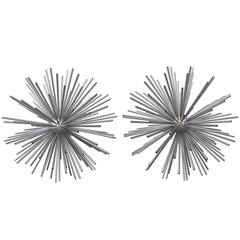 "Pair of Curtis Jere ""Sputnik"" Metal Sculptures, 1960s"