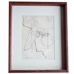 Plan for a Large Mobile Etching by Alexander Calder