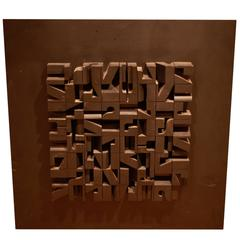 Three Dimensional Wall Sculpture by Norman Ives
