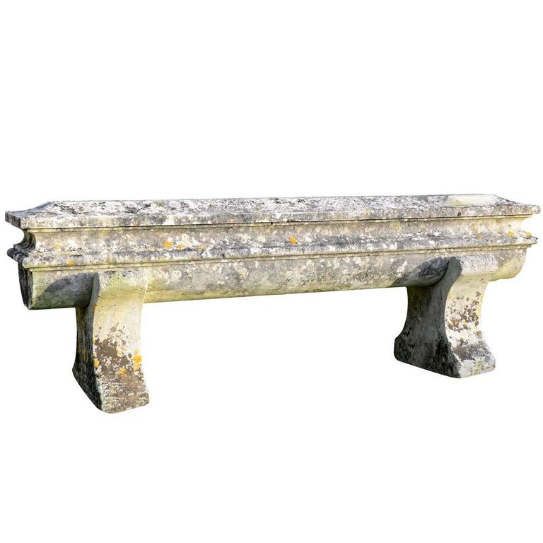 Large Stone Bench, circa 1850