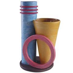 Periferico Futurist Ceramic Vase by Mazzotti, 1903