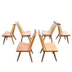 Set of Six George Nakashima Origins Dining Chairs