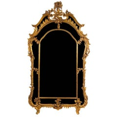 Large Louis XV Style Giltwood Pier Mantel Mirror