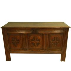 Good Late 17th Century Charles II Oak Carved Coffer