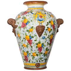 Faenza Large Ceramic Vase by Manetti e Masini