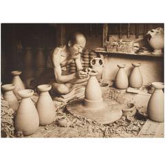 Japanese Potter Carbon Print