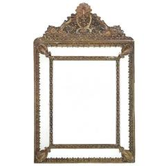 French Bronze Repousse Mirror 19th Century