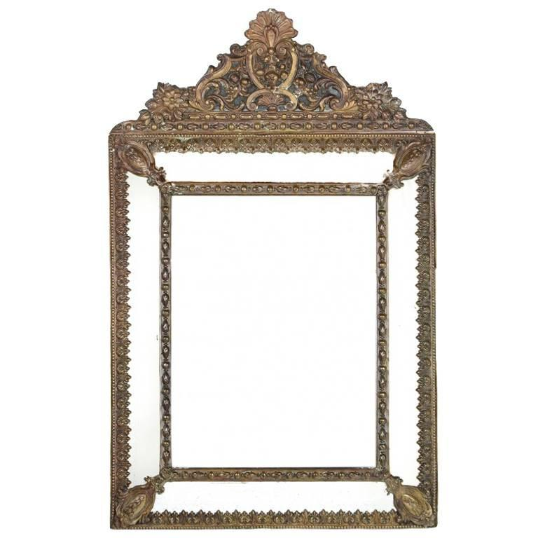 French bronze repousse mirror 19th century for sale at 1stdibs for Baroque mirror canada