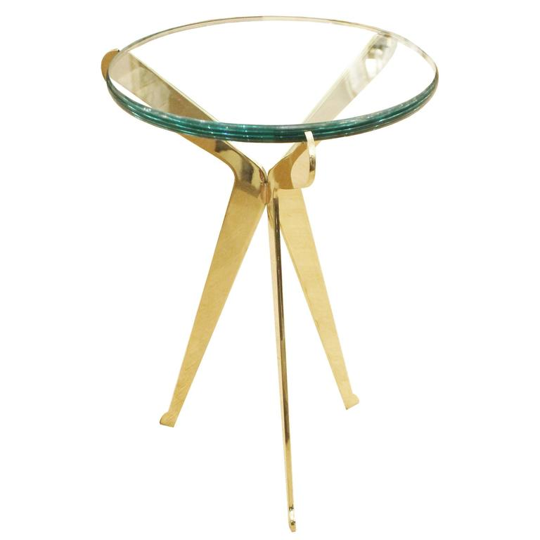 """Fiore"" Brass Side Table Designed by Gaspare Asaro"