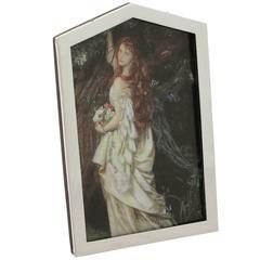 Sterling Silver Photograph Frame, Art Deco Antique George V