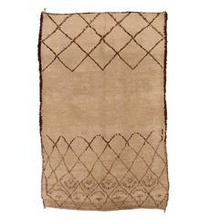 Early and Unusual Loop-Pile Beni Ouarain Carpet