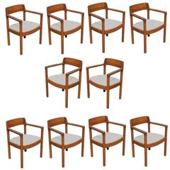 Set of Ten Nicos Zographos Ireland Chairs