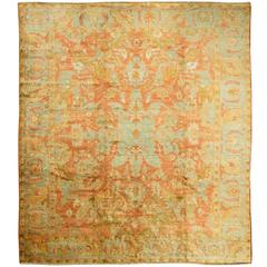 Antique Angora Turkish Oushak Rug