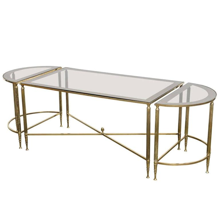 Three-Piece Jansen Style Cocktail Table For Sale At 1stdibs