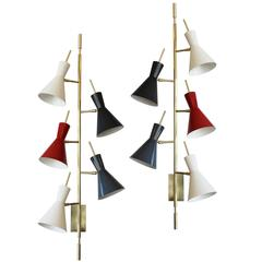Pair of Roberto Rida Five-Cone Sconces