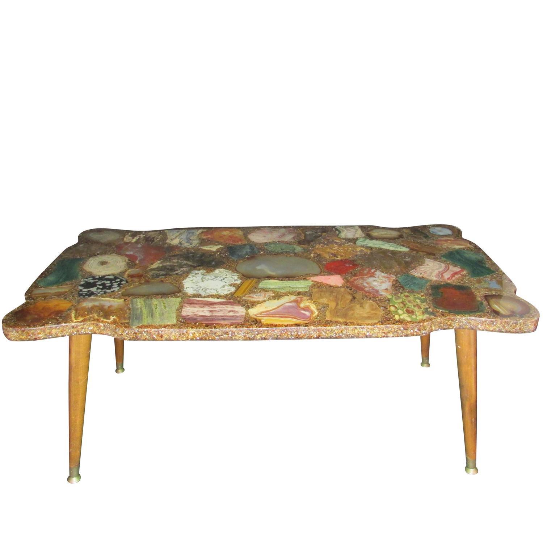 Vintage Geode Slice Coffee Table at 1stdibs