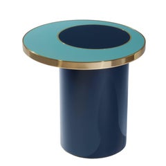"""Side table """"Nenuphar"""" blue by Hervé Langlais for Galerie Negropontes"""
