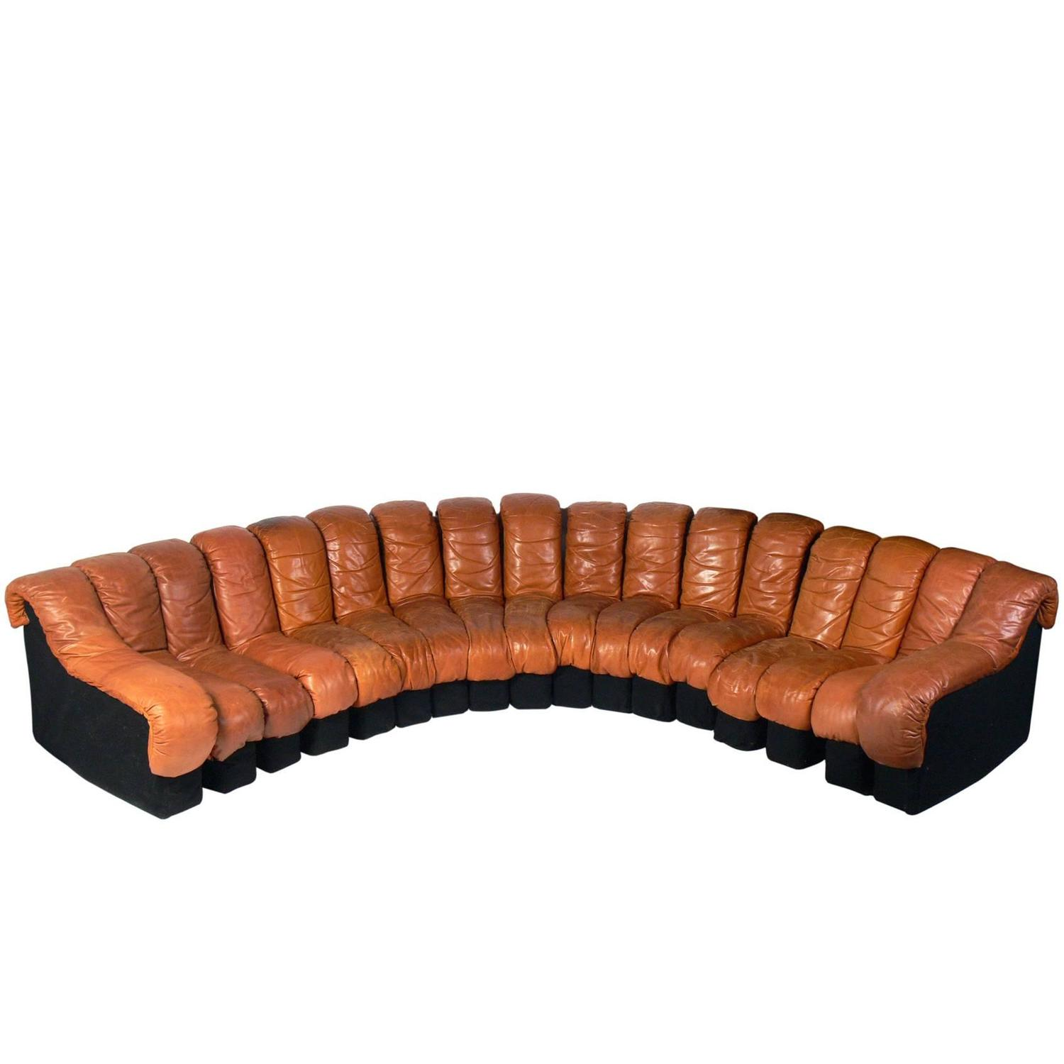 "De Sede ""Non Stop"" Leather Sectional Sofa at 1stdibs"