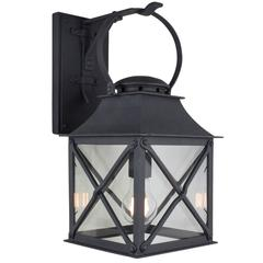 Classic Coastal Wrought Iron Light Lantern for Exterior/Outdoor by Britt Jewett